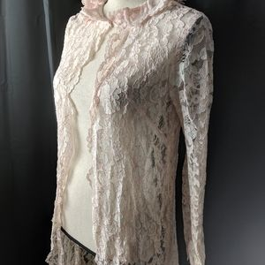 Vintage lace robe